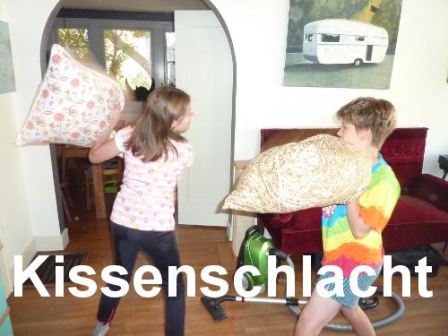 Militaristic German words: Kissenschlacht