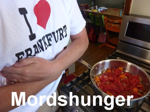 Militaristic German words: Mordshunger