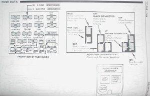 Camaro Firebird C100 Firewall Plug Fuse Box
