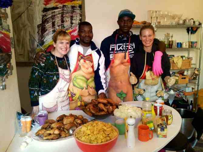 Refugee cooking group