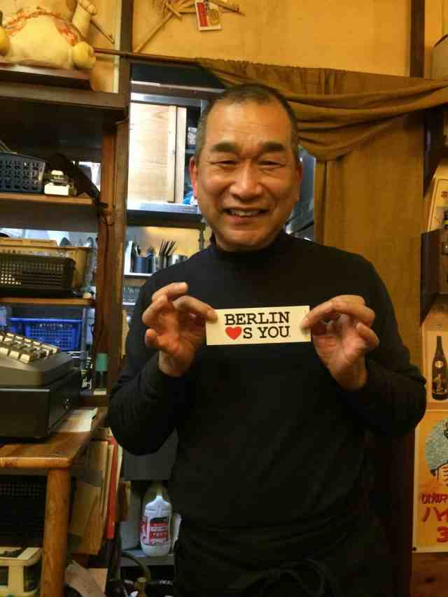 Bar Owner loves BERLIN LOVES YOU Tokyo