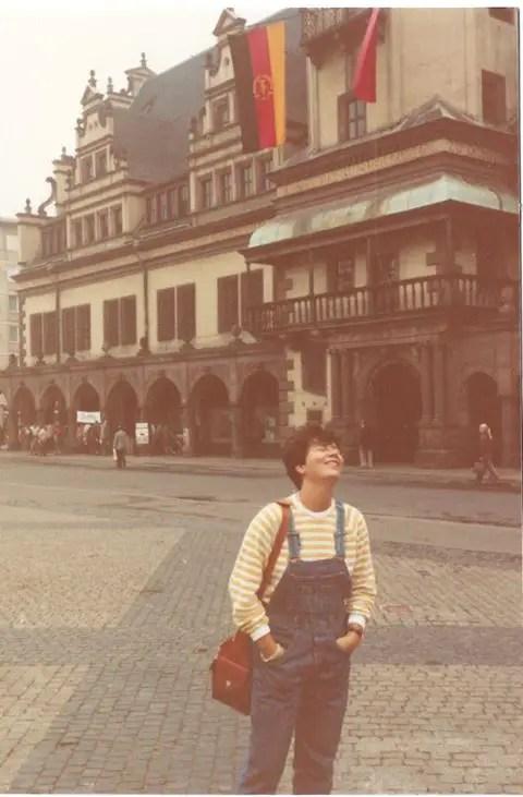 Marina Carelli a 20 anni a Lipsia - Germania dell'est