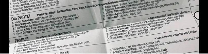 I candidati di Die PARTEI dalla pagina facebook ufficiale https://www.facebook.com/DiePARTEI/
