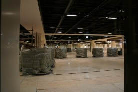 Blick ins UG des Terminalgebäudes