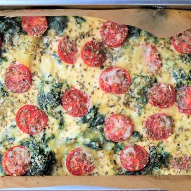 tortillla, spinazie, ricotta, kerstomaatjes
