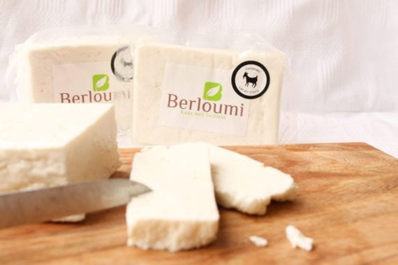 Berloumi of goat's milk, halloumi of goat's milk, berloumi