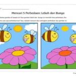 Temukan Perbedaan: Lebah dan Bunga