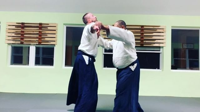 Eugene and Chris demonstrate transitions in kaiten nage.