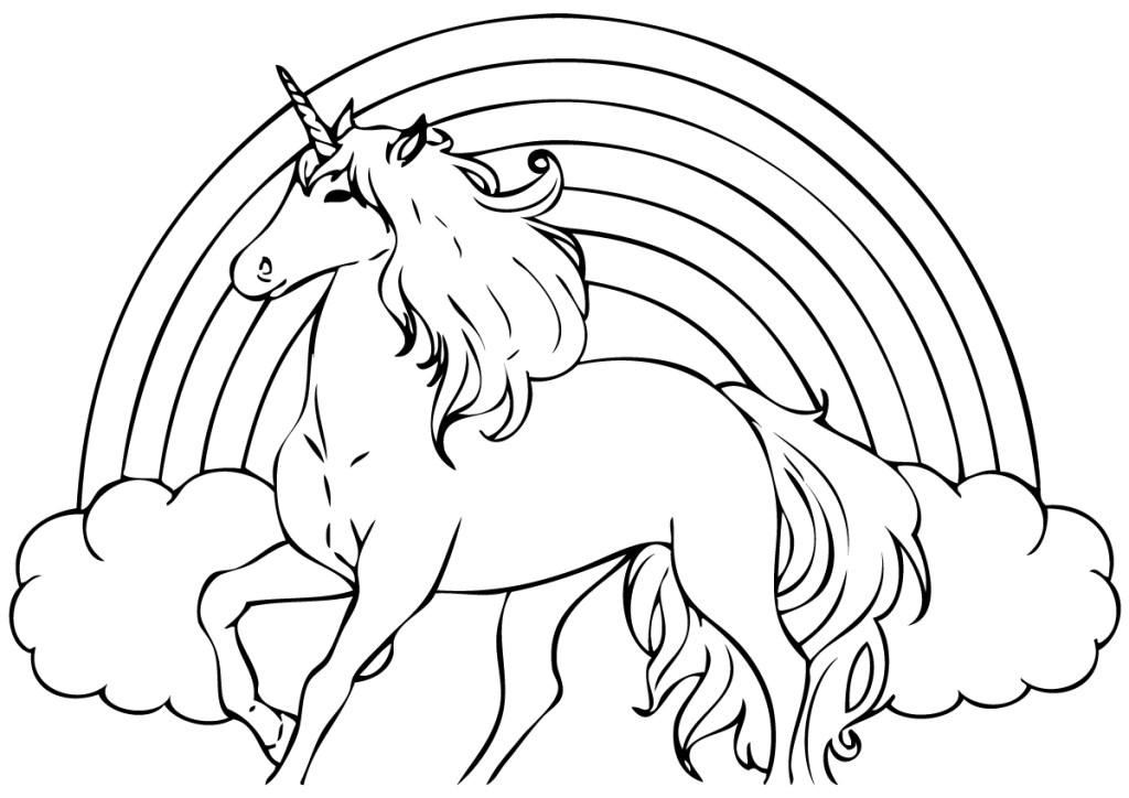 Coloriage À Imprimer Licorne