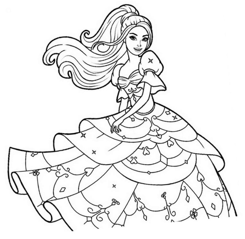 Coloriage Barbie Princesse À Imprimer