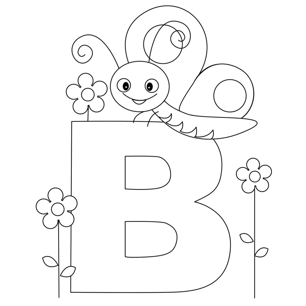 Letter B Coloring Pages For Toddlers