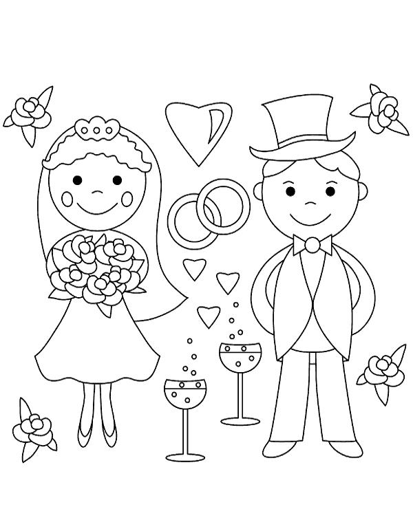 Mariage Coloriage
