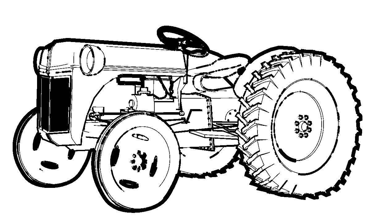 Coloriage De Tracteur À Imprimer