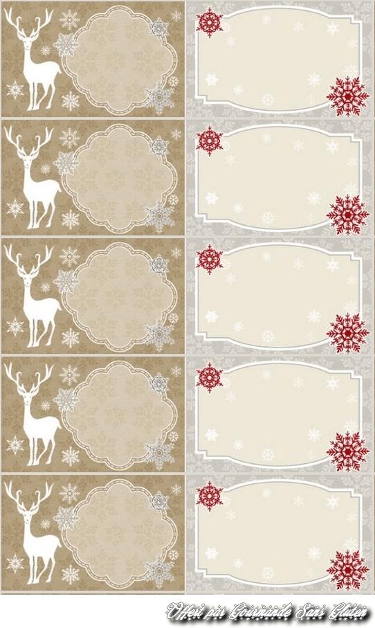 Etiquette Pour Cadeaux De Noel