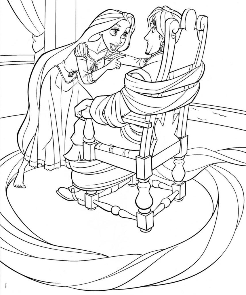 Princesse Raiponce Coloriage
