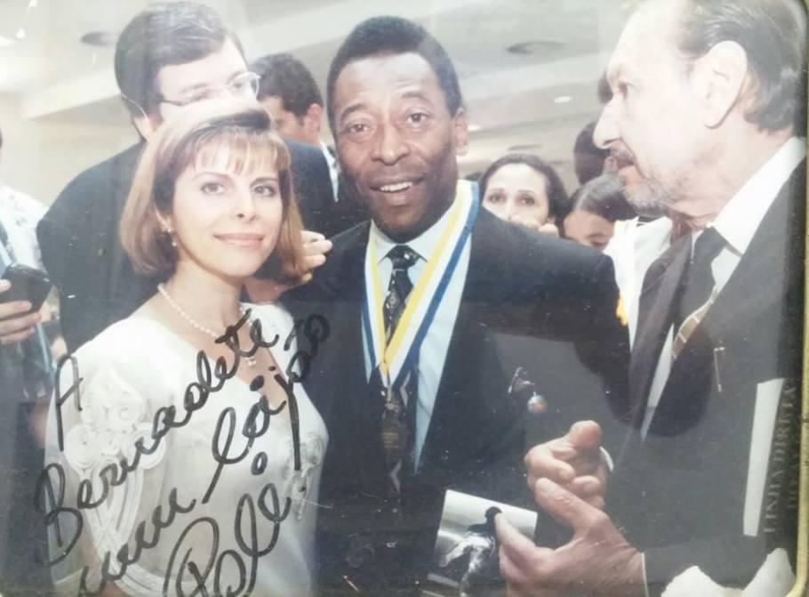 Bernadete Alves com Pelé