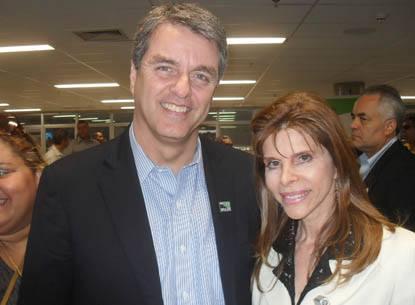 Bernadete Alves e o Embaixador Roberto Azevêdo, Diretor-Geral da Organização Mundial do Comércio