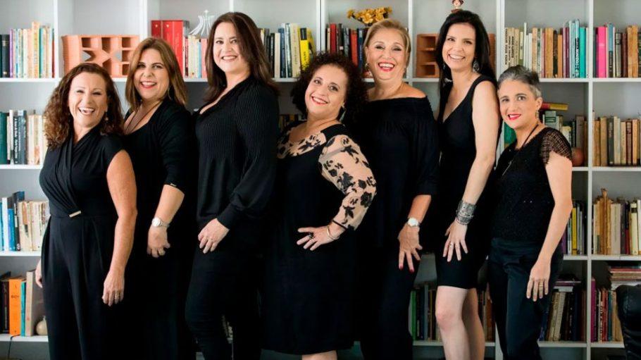 Solange, Alessandra, Claudine, Elisa, Ana Maria, Márcia e Cris