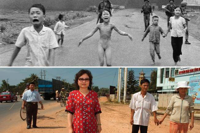 Kim Phuc Phan Thi  símbolo da guerra do Vietnã