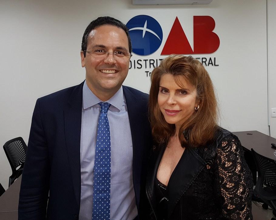 André Luiz Santa Rosa com Bernadete Alves