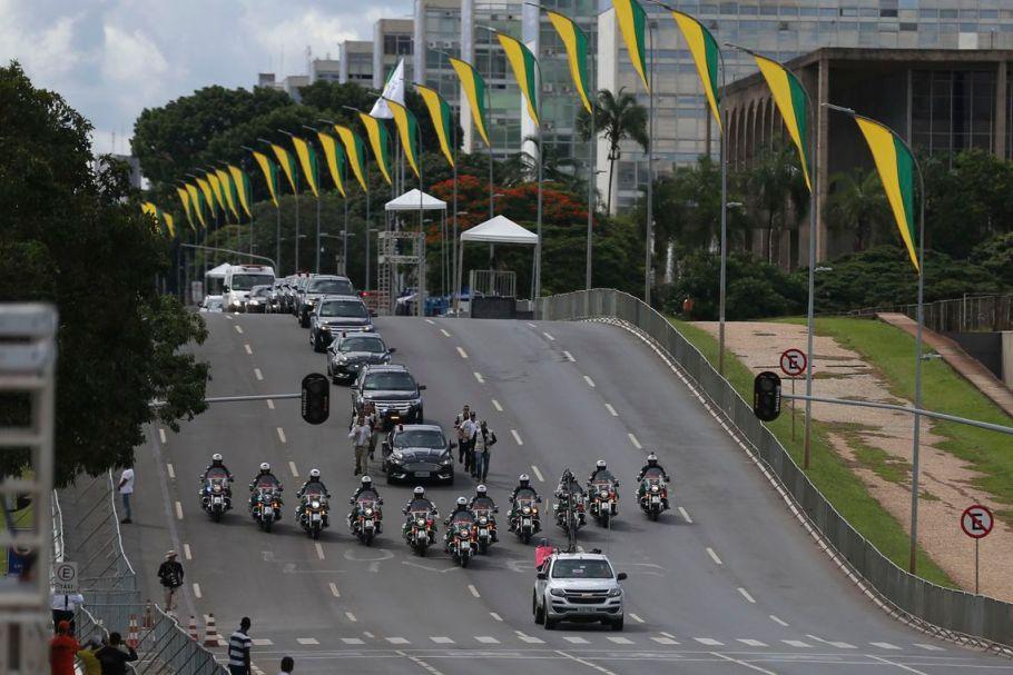 Ensaio para a posse de Jair Bolsonaro.