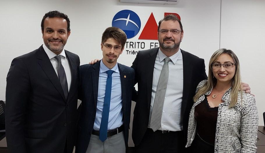João Paulo Amaral, Gilbert Di Angellis, Cristiano Fernandes e Fabiana Soares