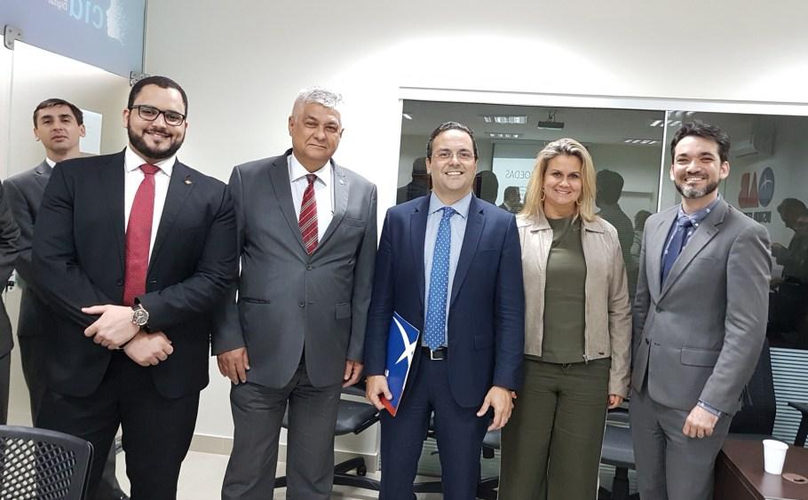 Nilton Gonzaga, Artur Milhomen, André Luiz Santa Rosa, Marilane Lopes Ribeiro e Lúcio Silva