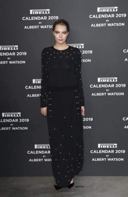 Astrid Eika na festa do Calendário Pirelli 2019