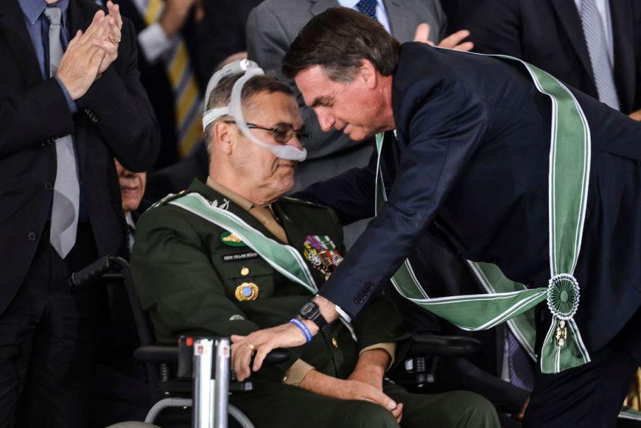 General Villas Bôas e o presidente Bolsonaro