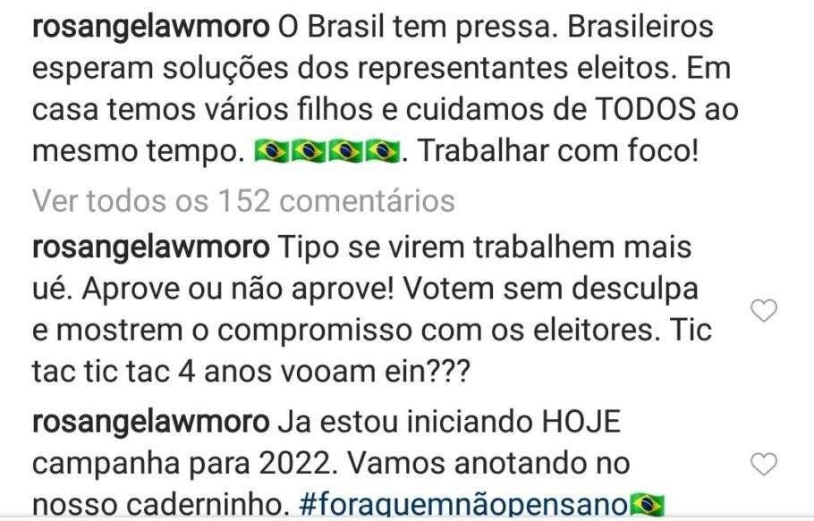 Rosângela Wolff Moro pede mais empenho dos parlamentares - bernadetealves.com
