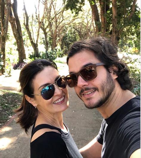 Fátima Bernardes e Túlio Gadelha, no Plano Piloto