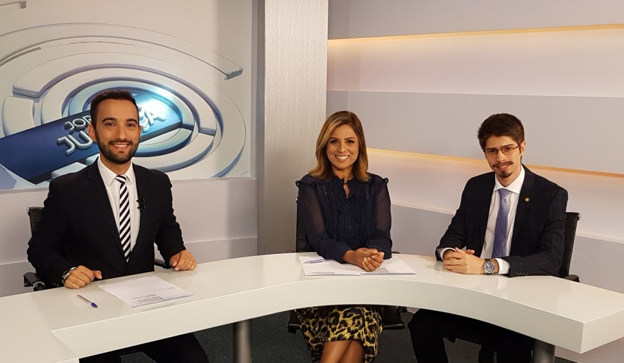 TV Justiça - Jornal da Justiça - Galton Sé, Rafaela Vivas e Gilbert Di Angellis - Bernadete Alves