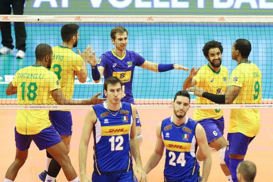 Brasil vence a Itália e é líder na Liga das Nações masculina - Bernadete Alves
