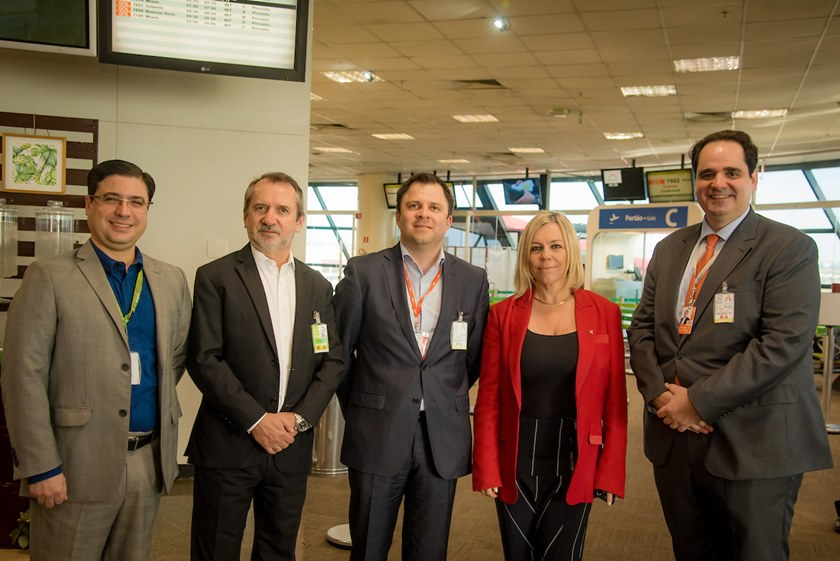 Brasília (DF), 28/06/2018  Corte de Faixas do Novo Voo para Cancún Local: Aeroporto JK, embarque internacional Foto: Hugo Barreto/Metrópoles