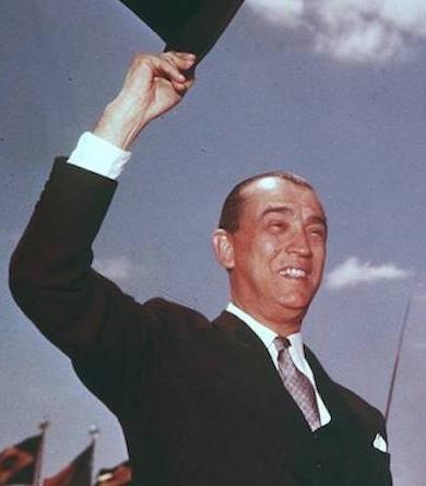 Presidente JK durante inauguração de Brasília