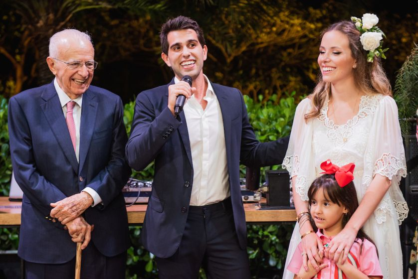 Famílias Adriano e Bittar celebram o amor dos herdeiros Carolina e Lucas - Bernadete Alves