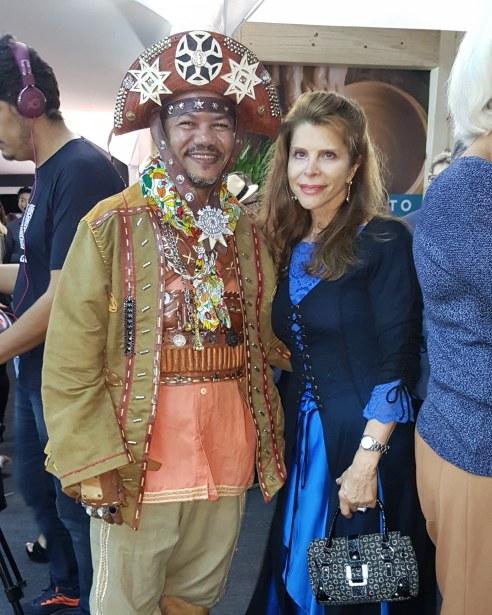 Ronildo Cabral , do Grupo Raízes de Campina Grande e Bernadete Alves