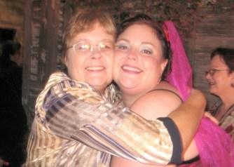 Bernadette and Suzette Franck at Suzette's wedding