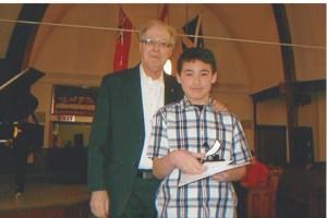 Edwin with Bob Durston