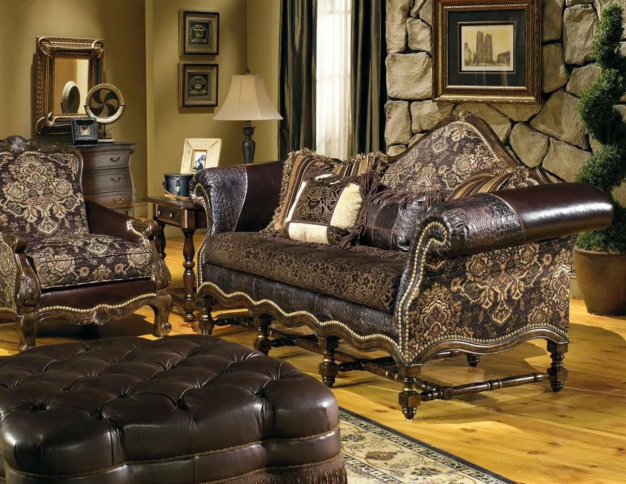 Tan Leather Storage Ottoman