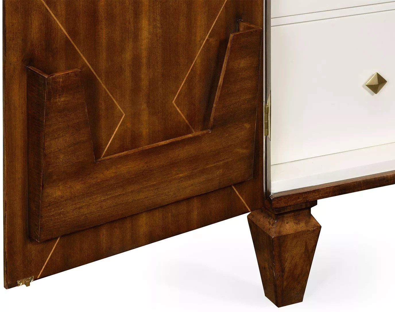 Walnut Dresser Armoire