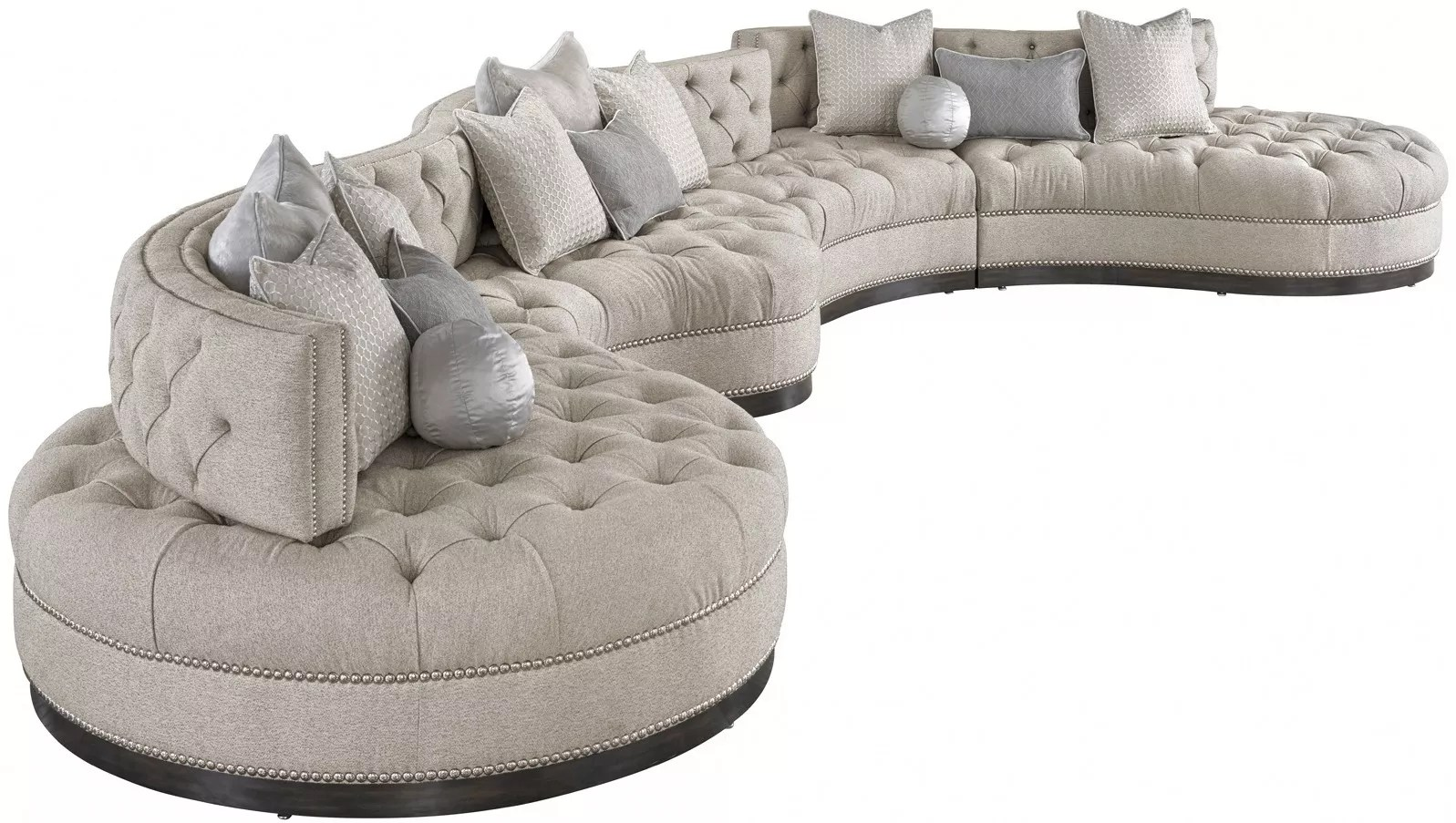 oversized dove grey sectional with