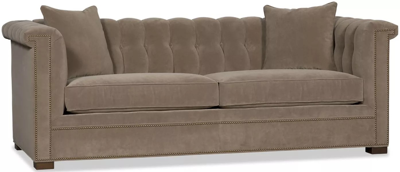 Upholstered High Arm Sofa