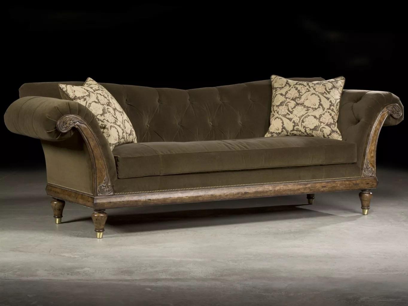 luxurious tufted velvet carved sofa luxurious decor