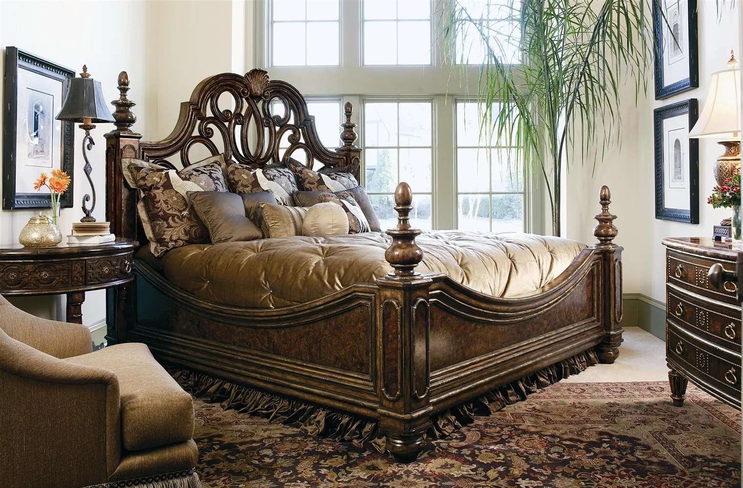 2 high end master bedroom set. manor home collection.