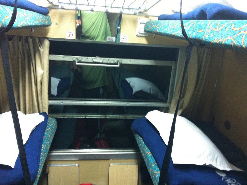 Krakow'a giderken yataklı vagon keyfi :)