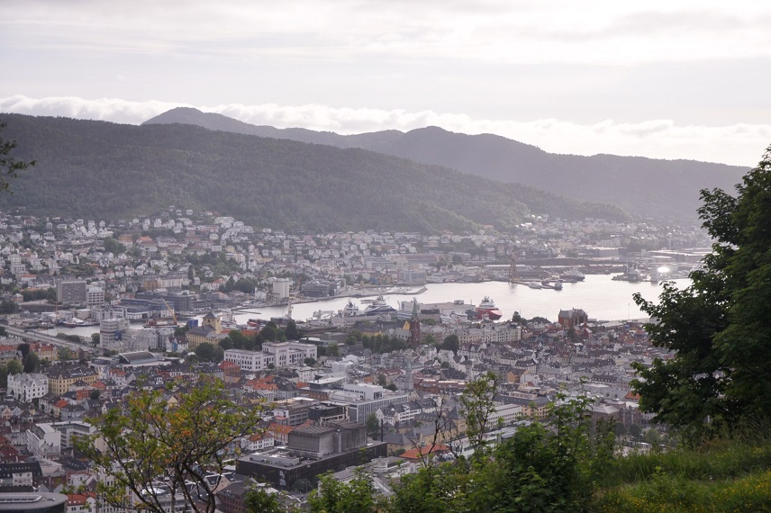 Norveç, Bergen Airbnb evimizin manzarası