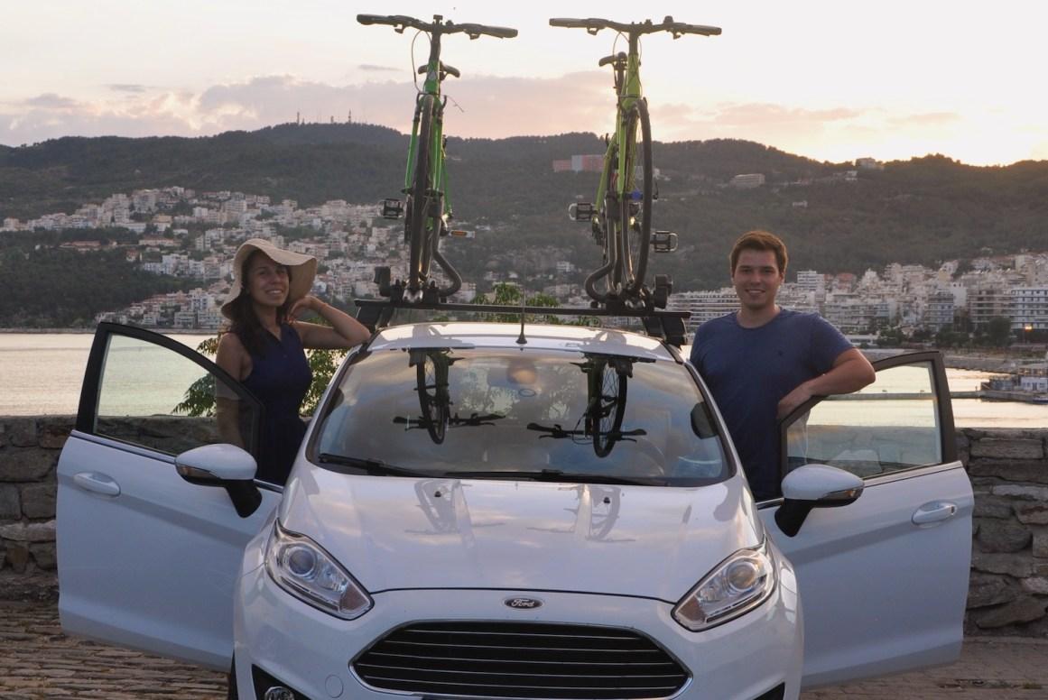 Uzun yolculuğumuzu üstte bisikletlerle yaptık..