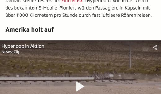 Screenshot Ausschnitt Artikel Schallgeschwindigkeit