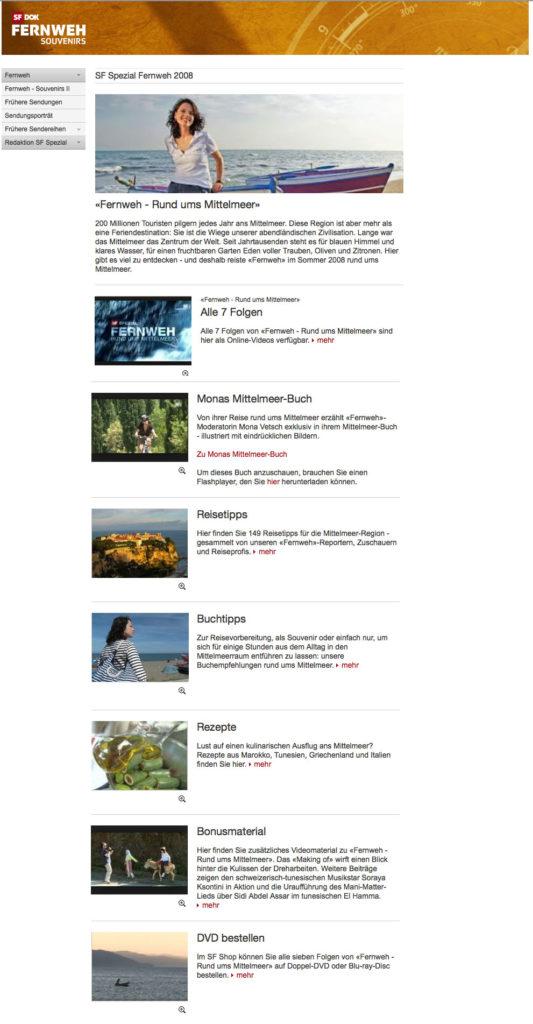 Screenshot Webseite Fernweh 08